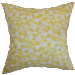 Imperartiz Yellow 18 x 18 Geometric Throw Pillow