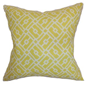 Majkin Green 18 x 18 Geometric Throw Pillow