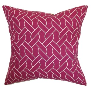 Neptune Pink 18 x 18 Geometric Throw Pillow