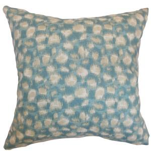 Imperartiz Aqua 18 x 18 Geometric Throw Pillow