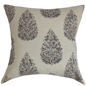 Faeyza Purple 18 x 18 Floral Throw Pillow