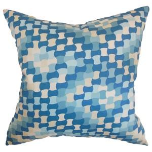 Gaya Aqua 18 x 18 Geometric Throw Pillow