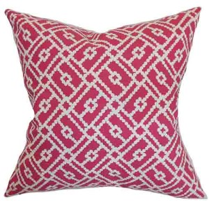 Majkin Pink 18 x 18 Geometric Throw Pillow