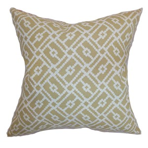 Majkin Yellow 18 x 18 Geometric Throw Pillow