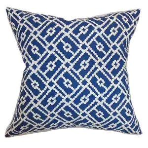 Majkin Blue 18 x 18 Geometric Throw Pillow