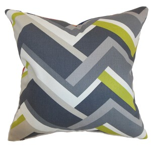 Hoonah Gray 18 x 18 Geometric Throw Pillow