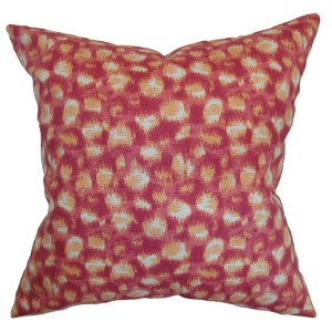 Imperartiz Pink and Ivory 18 x 18 Geometric Throw Pillow