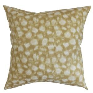 Imperartiz Yellow and Sand 18 x 18 Geometric Throw Pillow