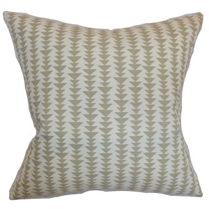 Jiri Blue 18 x 18 Geometric Throw Pillow