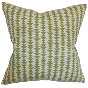 Jiri Green 18 x 18 Geometric Throw Pillow