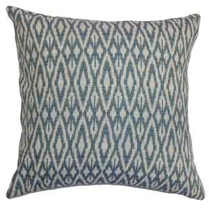 Hafoca Blue 18 x 18 Patterned Throw Pillow