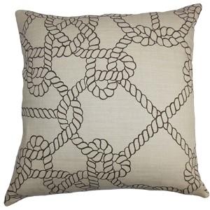 Accalia Black 18 x 18 Coastal Throw Pillow