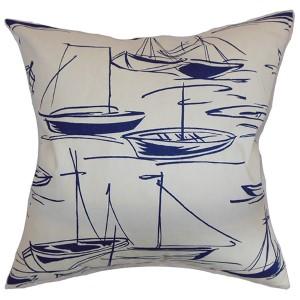 Gamboola Blue 18 x 18 Nautical Throw Pillow
