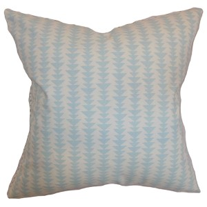 Jiri Sky Blue 18 x 18 Geometric Throw Pillow