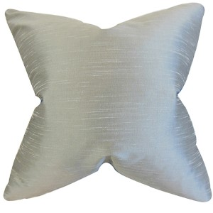Acker Gray 18 x 18 Solid Throw Pillow