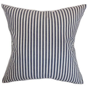 Neptune Blue 18 x 18 Stripes Throw Pillow
