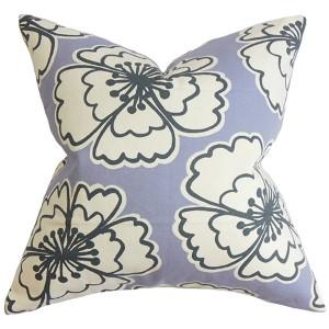 Winslet Purple 18 x 18 Floral Throw Pillow