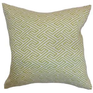 Qalanah Green 18 x 18 Geometric Throw Pillow
