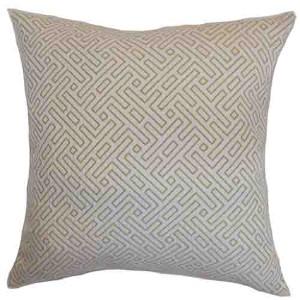 Qalanah Gray 18 x 18 Geometric Throw Pillow