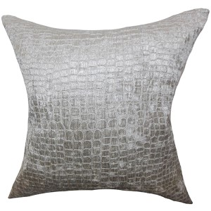 Jensine Gray 18 x 18 Solid Throw Pillow