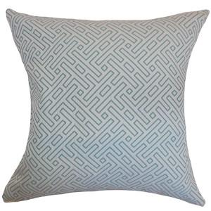 Qalanah Blue 18 x 18 Geometric Throw Pillow