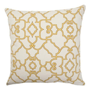 Macca Moorish Tile Pillow Buttercup