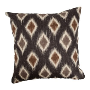Faela Diamond Pillow Black/Brown