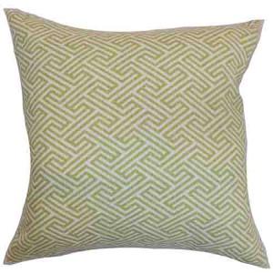 Graz Spring Green 18 x 18 Geometric Throw Pillow