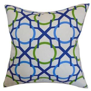 Lacbiche Blue 18 x 18 Geometric Throw Pillow