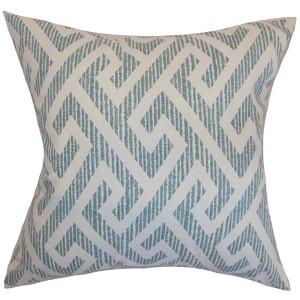 Naxoli Aqua 18 x 18 Patterned Throw Pillow