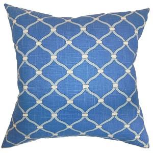 Hamar Blue 18 x 18 Geometric Throw Pillow