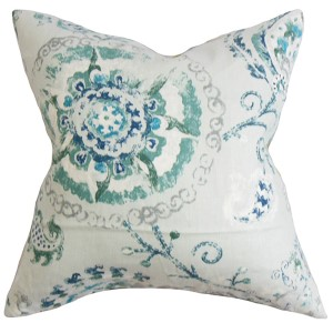 Riah Multicolor 18 x 18 Floral Throw Pillow