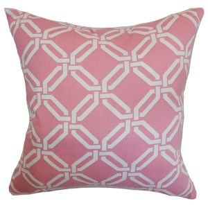 Ulei Pink 18 x 18 Geometric Throw Pillow