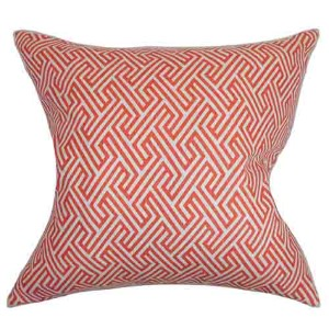 Graz Pink 18 x 18 Geometric Throw Pillow