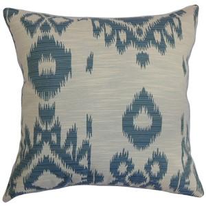 Gaera Blue 18 x 18 Ikat Throw Pillow