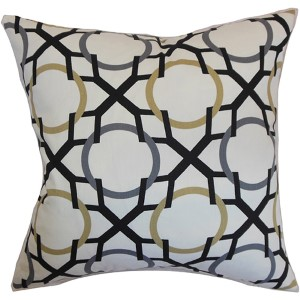 Lacbiche Gray 18 x 18 Geometric Throw Pillow