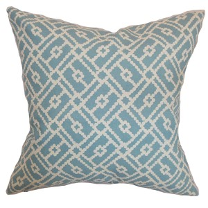 Majkin Turquoise 18 x 18 Geometric Throw Pillow