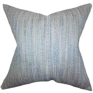 Zebulun Blue 18 x 18 Patterned Throw Pillow