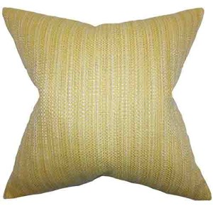 Zebulun Yellow 18 x 18 Patterned Throw Pillow