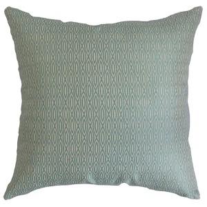 Whitney Blue 18 x 18 Geometric Throw Pillow