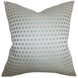 Radclyffe Gray 18 x 18 Patterned Throw Pillow