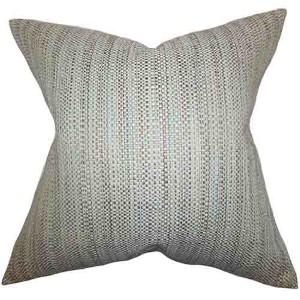 Zebulun Aqua 18 x 18 Patterned Throw Pillow
