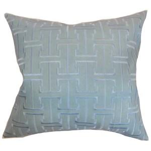 Quine Blue 18 x 18 Geometric Throw Pillow