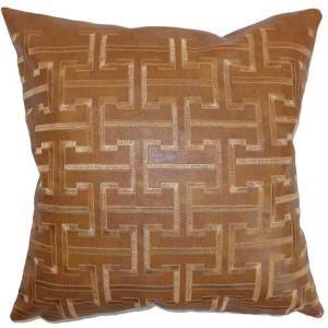 Quine Brown 18 x 18 Geometric Throw Pillow