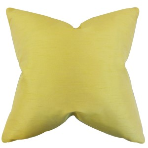 Acker Yellow 18 x 18 Solid Throw Pillow