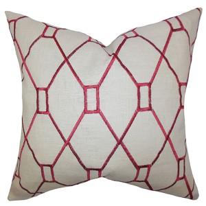 Nevaeh Red 18 x 18 Geometric Throw Pillow