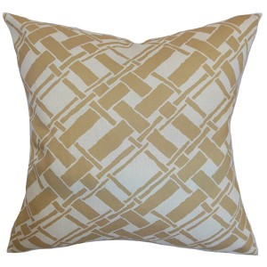 Rygge Neutral 18 x 18 Patterned Throw Pillow