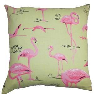 Qusay Green 18 x 18 Animal Throw Pillow