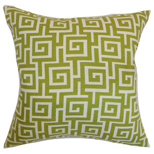 Warder Green 18 x 18 Patterned Throw Pillow