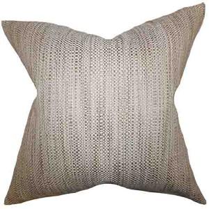 Zebulun Neutral 18 x 18 Patterned Throw Pillow